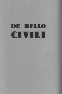 DE BELLO CIVILI (1)